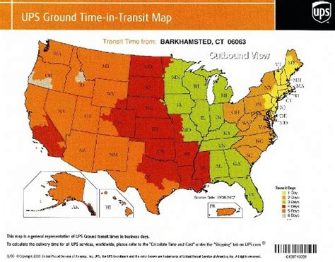 usa map ups ups shipping rate guide