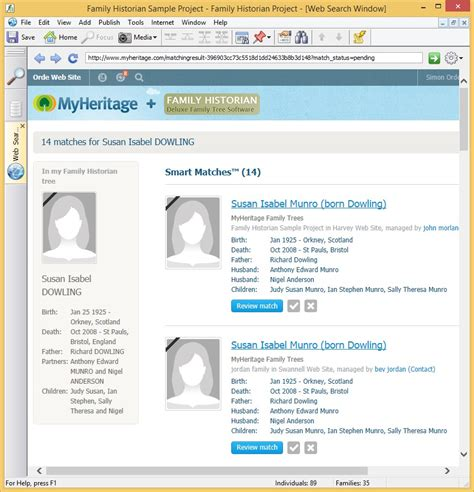 New Website For Search What S New In Version 6 Family Historian 6