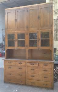 Pantry Cabinet For Sale Antique Large Oak Butler S Pantry Cabinet Cupboard Storage