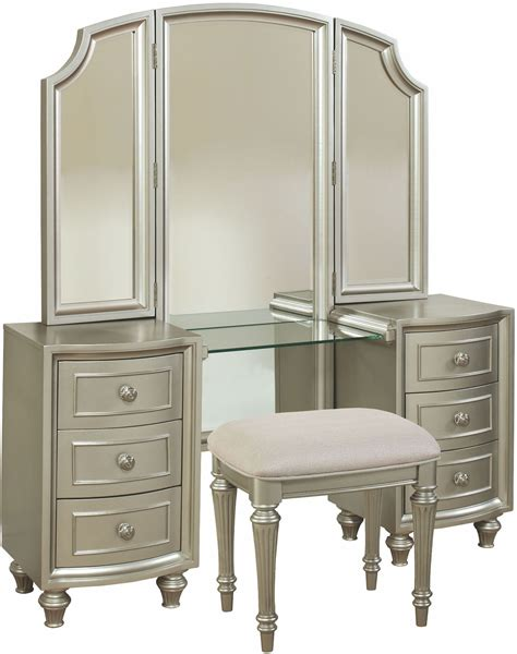 regency bedroom furniture regency park pearlized silver panel bedroom set b00481 5h