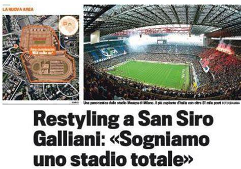 posti a sedere stadio san siro milan nasce il nuovo san siro 60 mila posti e