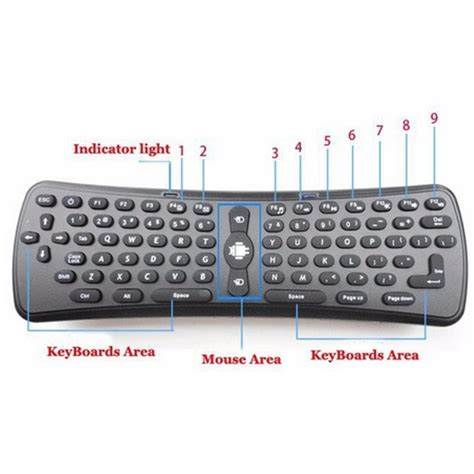 Jual Keyboard Wireless Untuk Smart Tv jual 2 4ghz wireless gyroscope air mouse keyboard for pc