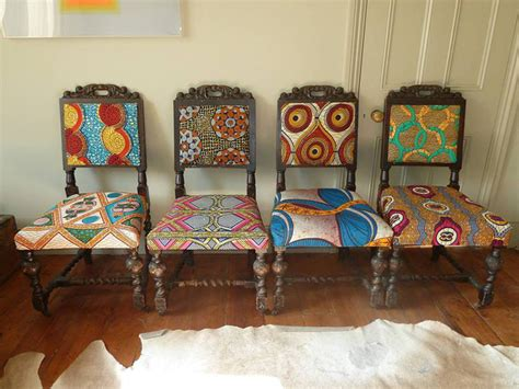 Chair Upholstery Ideas by Frumpy Chairs Get A Tribal Fabric Makeover Modhomeec