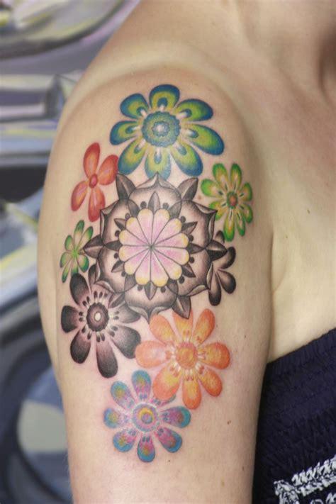 hand flower tattoo flower tattoos flower color tattoos free