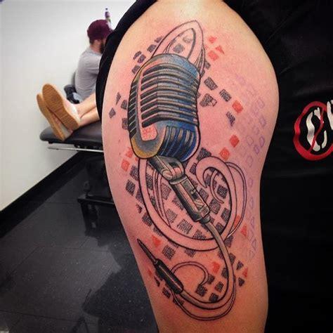 tattooed heart mic feed 16 rockabilly microphone tattoos tattoodo
