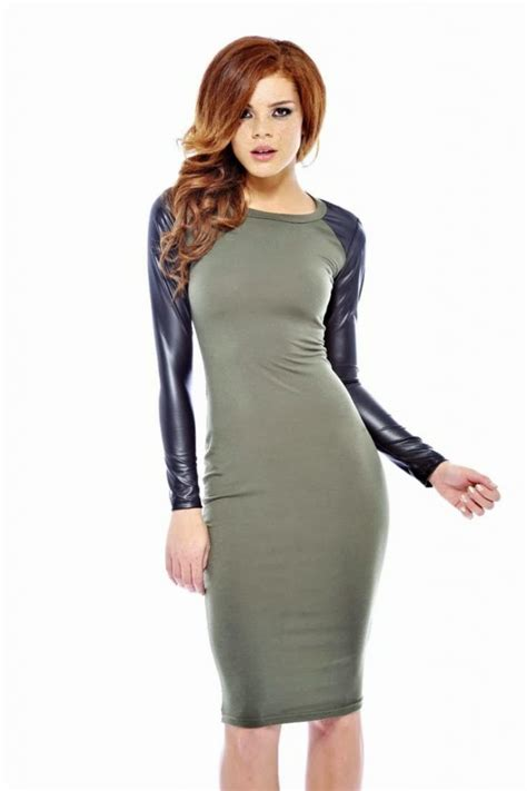 15 Cute Leather Knee Length Dresses   SheIdeas