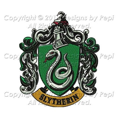 harry potter embroidery designs harry potter slytherin house emblem design for embroidery