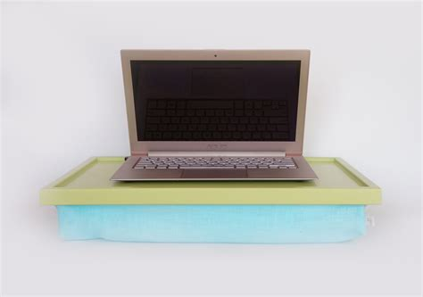 Aqua Pillow Ipad Desk Or Laptop Lap Desk Light Green Laptop Desk Pillow