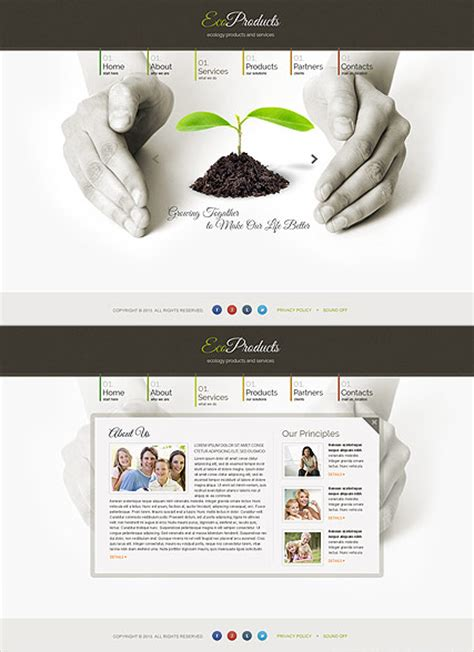 html5 product template ecology products html5 template id 300111657