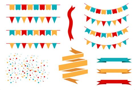 Pennant Banner Template 24 Free Psd Ai Vector Eps Illustration Format Download Free Flag Banner Template