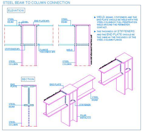 Drawing H Beam by Steel Connections Detallesconstructivos Net Postmodern