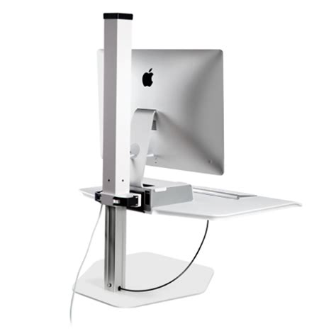 Winston Apple Imac Sit Stand Desk From Cubicle By Design Imac Standing Desk
