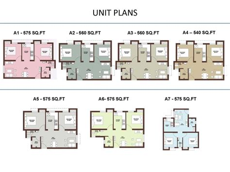 apartment unit design apartment unit floor plans unit plans 540 560 575