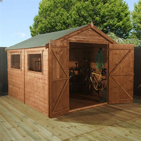 mercia large premium shiplap shed  double doors