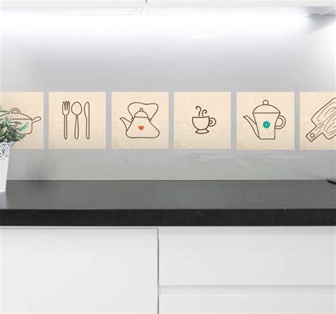 cenefas de cocina sticker cenefa cubiertos para cocina tenvinilo