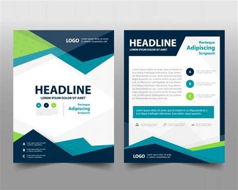 brochure template keynote business brochure template with space for text free vector