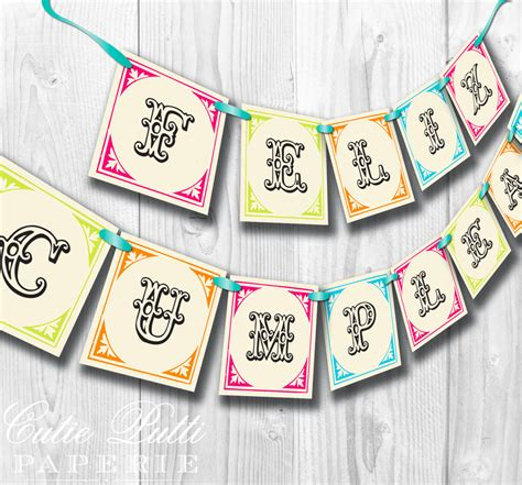 printable vintage birthday banner vintage fiesta party mexican party printable by