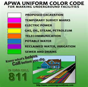 scrub color code iowa one call commongroundiowa