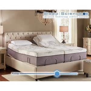Costco Sleep Number Adjustable Bed Sleep Science Ara 13 Quot Split King Memory Foam Mattress With