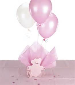 christening balloon centerpieces baptism supplies for baby teddy themed
