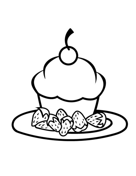 coloring pages of cakes and cupcakes cupcake coloring page coloring home
