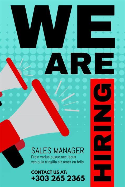 hiring ad template hiring ad poster flyer social media template small