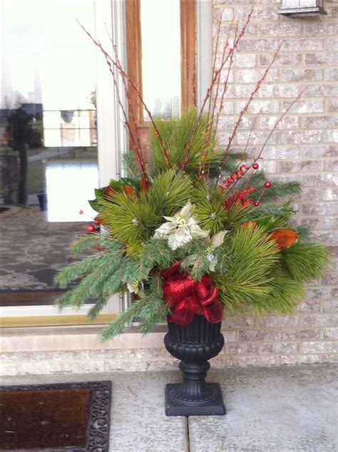 images of christmas urns christmas fresh outdoor urn holidays pinterest