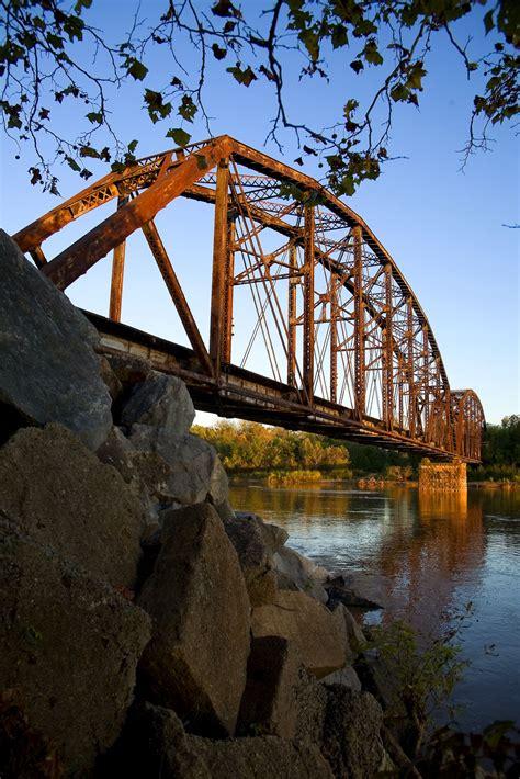bridgehuntercom  south canadian river bridge calvin