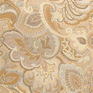 Upholstery Fabric Gold And Beige Abstract Floral Upholstery Fabric By The