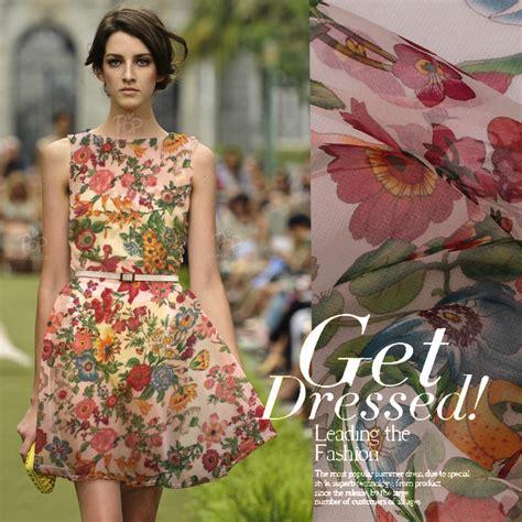 aliexpress com buy telas 10mm flowers print silk organza clothes diy jumpsuit full dress