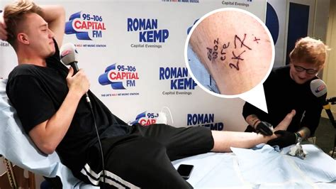 tattoo fixers ed sheeran ed sheeran brands roman kemp forever by tattooing name on