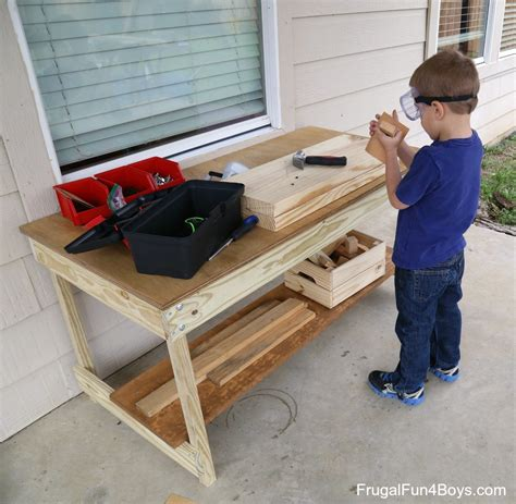 boys work bench kids workbench plans build your own kids woodworking