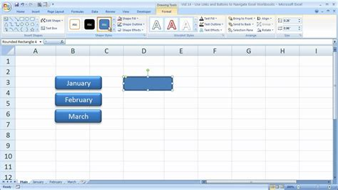 excel button layout excel tips 14 links in excel to quickly navigate between