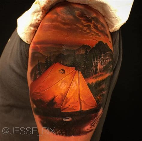 camping tattoo best tattoo design ideas