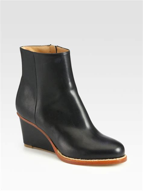 Maison Margiela Ankle Boots maison margiela leather wedge ankle boots in black