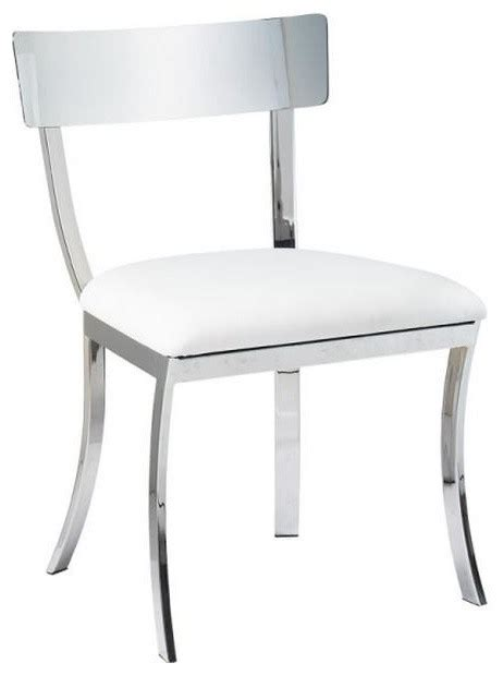 Dining Chair Construction Chrome Finished Steel Construction Dining Chair White Contemporary Dining Chairs By Artefac
