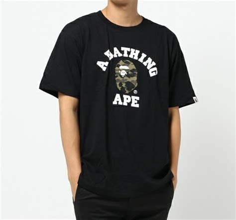 Bathing Ape Tees a bathing ape 1st camo college 6 colors print bape mens t shirt from japan ebay