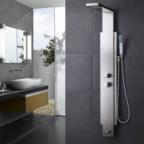 3 Handle Shower Faucet Brushed Nickel Kes Sus 304 Stainless Steel Thermostatic Shower Panel 4