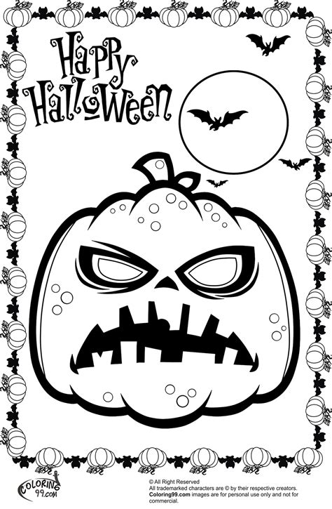 spooky halloween coloring printables coloring pages