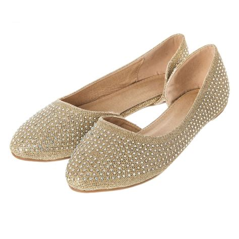 flat cut out shoes flat ballerina shoe with cut out sides coloured stones
