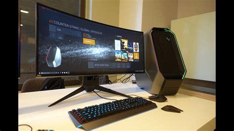 alienware 34 quot gaming monitor review alienware area 51 custom build episode 4