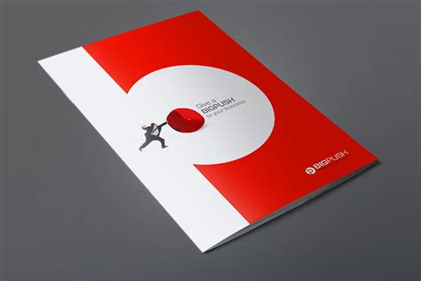 graphic design company profile sle bigpush dubai logo brochure designs by fahad khalid