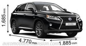 Lexus Rx 350 Cargo Dimensions Abmessungen Der Lexus Autos Mit L 228 Nge Breite Und H 246 He