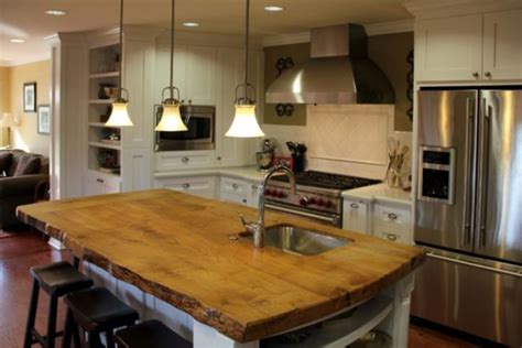 wood island kitchen beautiful wooden countertops for the kitchen