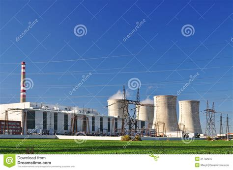 Nuclear Power In Industri nuclear industry power royalty free stock photography image 21732047