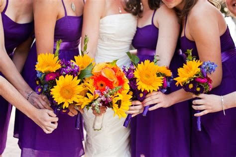 eclectic diy purple and yellow wedding every last detail