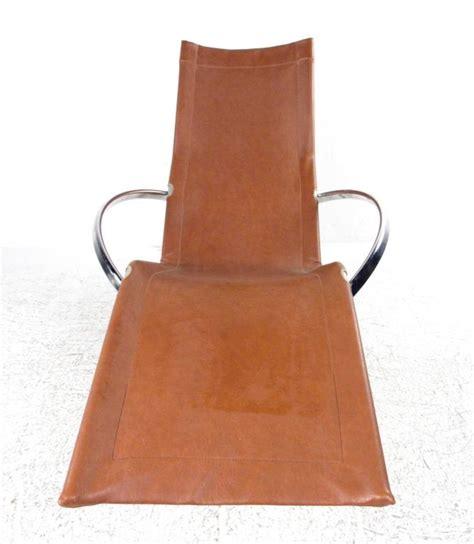 unique chaise lounge chairs unique mid century modernist chrome and vinyl chaise
