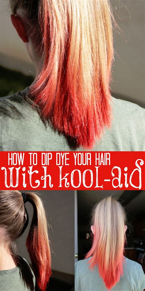 coloring hair with kool aid how to dip dye your hair with kool aid tips from a