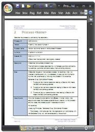 business process narrative template business process design templates word visio
