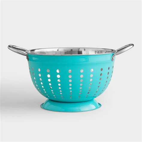 Home Decor Shopping Online by Aqua Stainless Steel Colander World Market